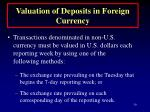 valuation of deposits in foreign currency