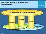 the three pillars of sustainable development