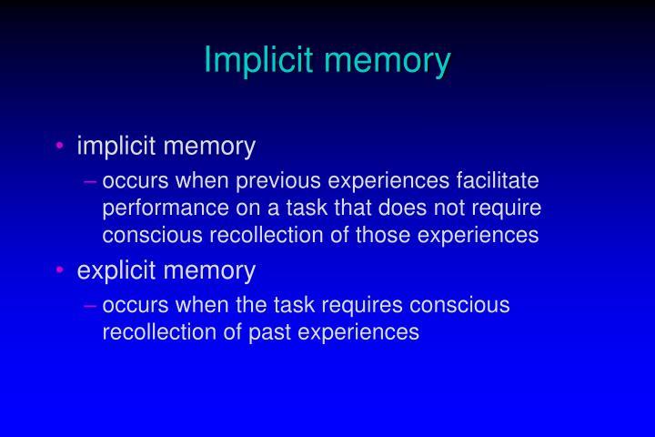 Implicit memory2