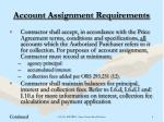 account assignment requirements