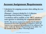 account assignment requirements8