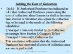 adding the cost of collection