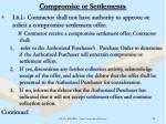 compromise or settlements