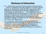 disclosure of information11