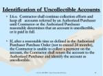 identification of uncollectible accounts