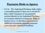 payments made to agency
