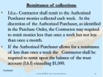 remittance of collections