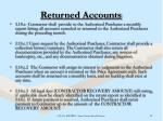 returned accounts