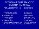 reforma protestante e contra reforma