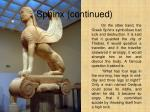 sphinx continued