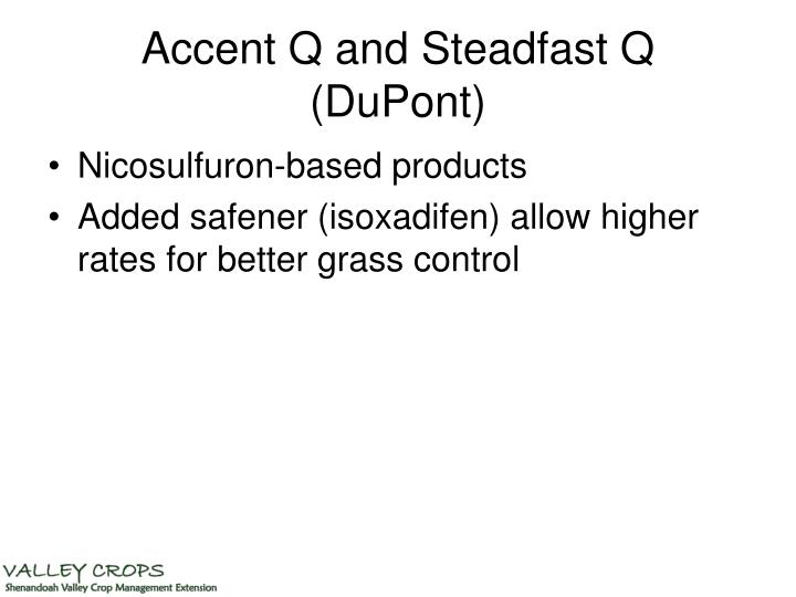 Accent Q and Steadfast Q (DuPont)