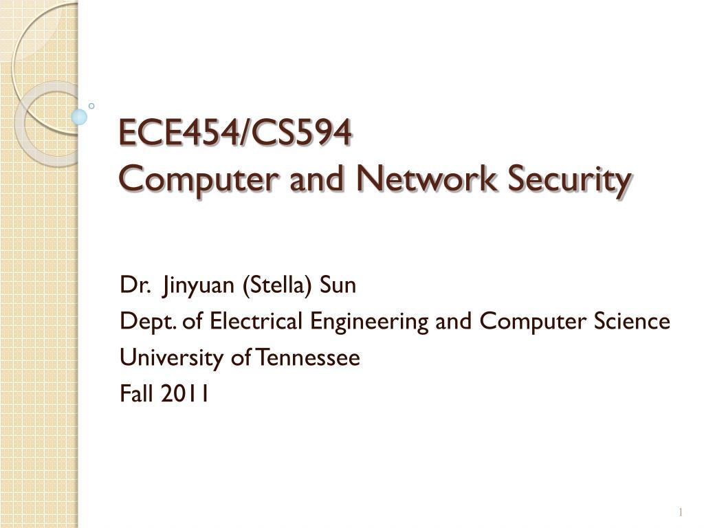 ece454 cs594 computer and network security l.