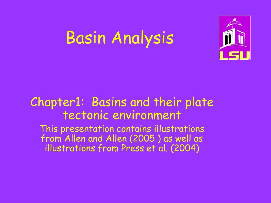basin analysis l.