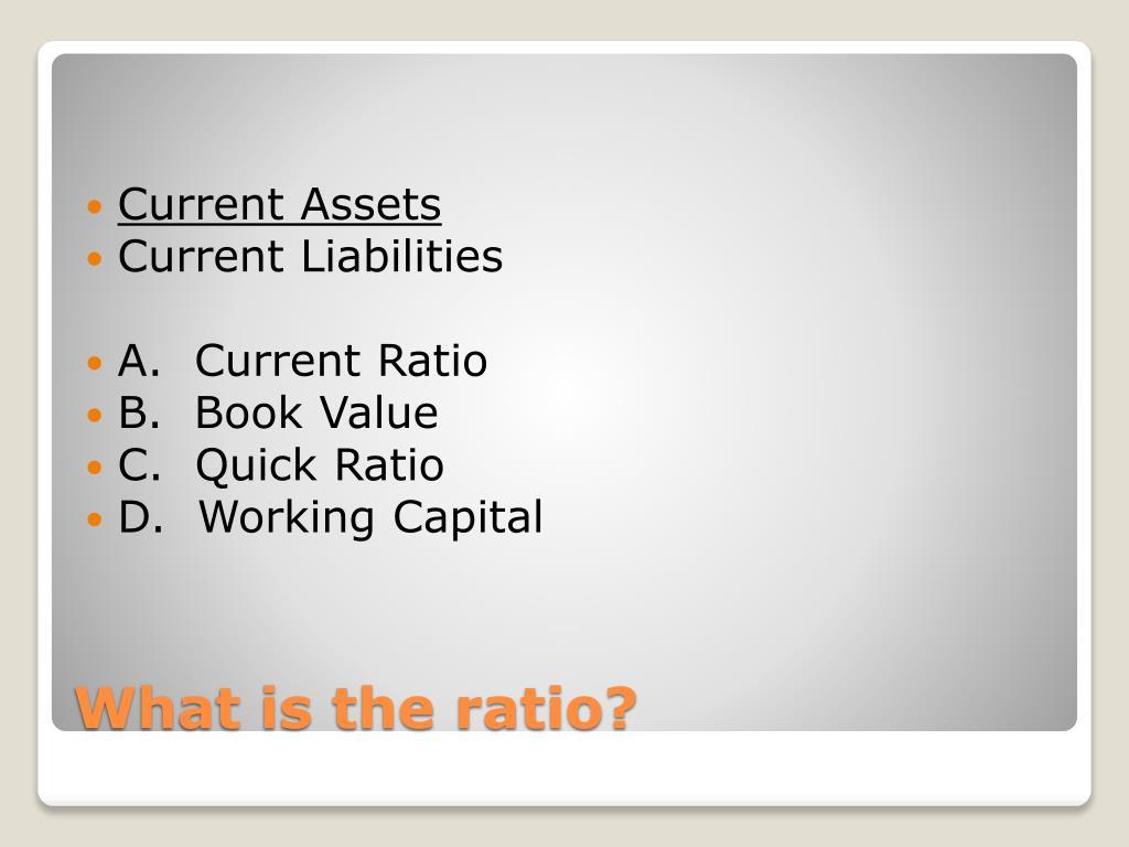 Current Assets