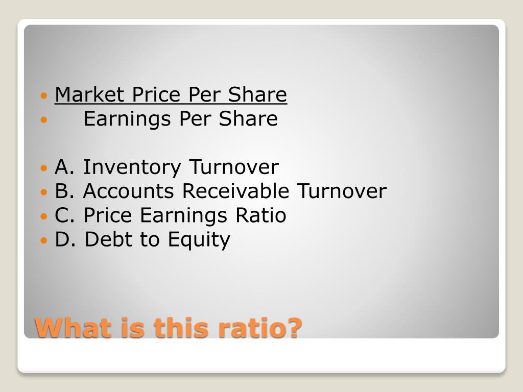 Market Price Per Share
