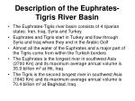 description of the euphrates tigris river basin