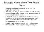 strategic value of the two rivers syria