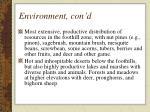 environment con d