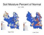soil moisture percent of normal