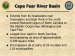 cape fear river basin