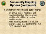 community mapping options continued