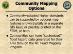 community mapping options