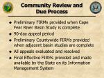 community review and due process
