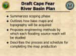 draft cape fear river basin plan
