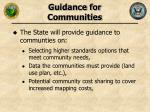 guidance for communities