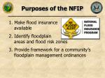 purposes of the nfip