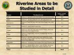 riverine areas to be studied in detail1