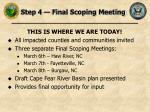 step 4 final scoping meeting
