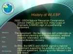 history of wlebp