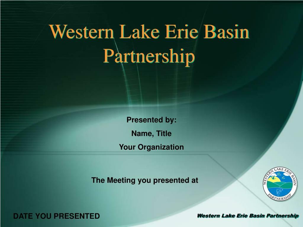 western lake erie basin partnership l.