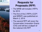 requests for proposals rfp
