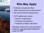 who may apply
