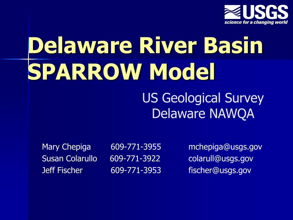 delaware river basin sparrow model l.