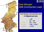 total nitrogen 2000 incremental loads