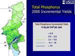 total phosphorus 2000 incremental yields