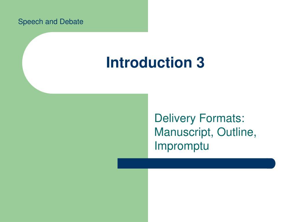 introduction 3 l.