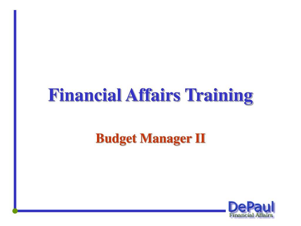 financial affairs training l.