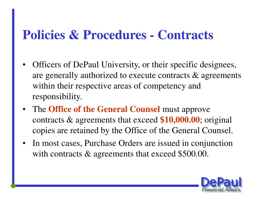 Policies & Procedures - Contracts