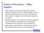 policies procedures office supplies