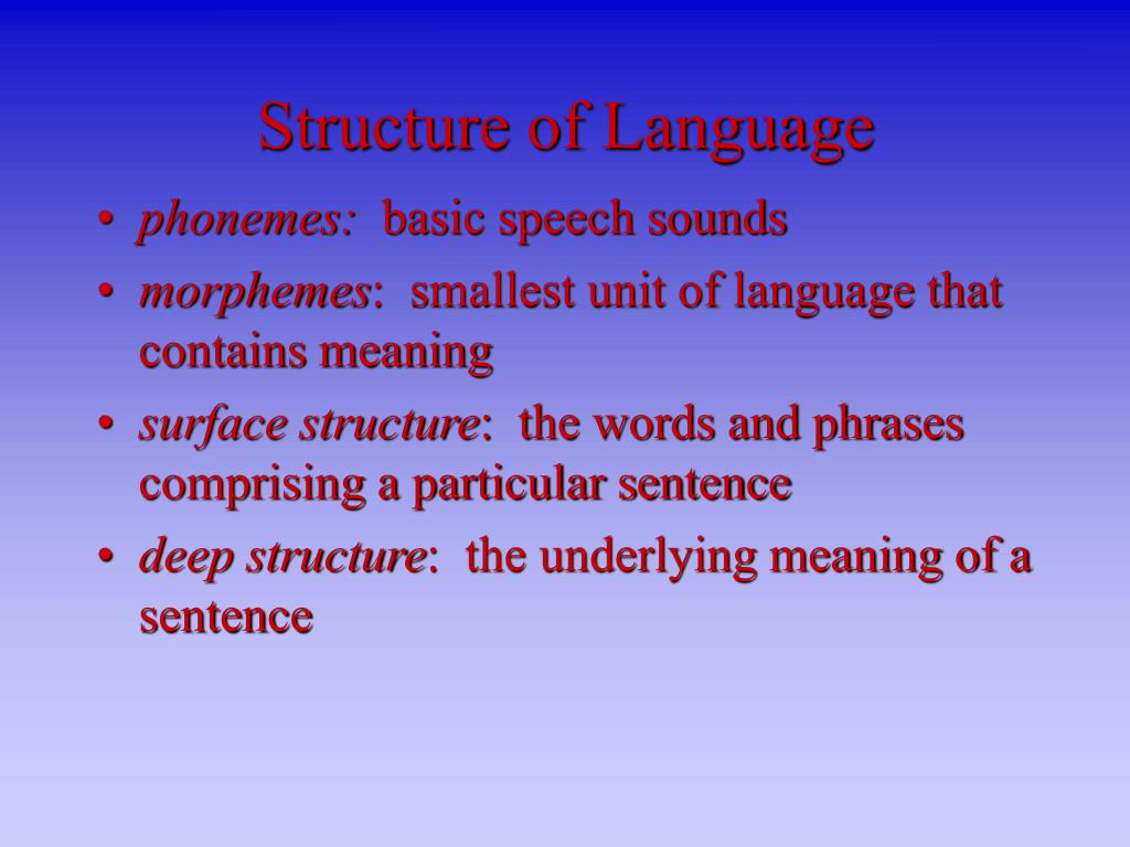 structure of language l.
