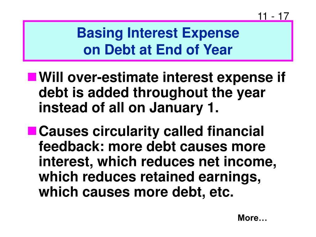 Basing Interest Expense