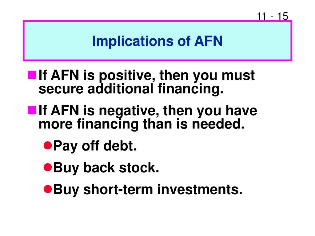 Implications of AFN