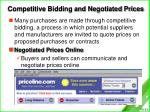 competitive bidding and negotiated prices