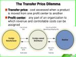 the transfer price dilemma