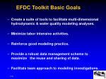 efdc toolkit basic goals