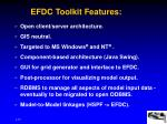 efdc toolkit features